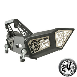 07 18 Jeep Wrangler Jk Web Black Front Bumper With 2xd rings Winch Plate
