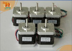 5 Pcs Cnc 3d Printer Nema17 For 12v 2800g cm 34mm 1 8 Wantai Stepper Motor