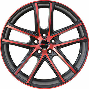 4 Gwg Wheels 17 Inch Red Zero Rims Fits Acura Integra Type R 2000 2001