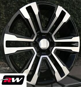 Chevy Silverado 1500 Oe Replica Wheels 2017 Denali 20 Inch Black Machined Rims