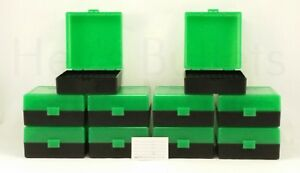BERRY'S PLASTIC AMMO BOXES (10) GREEN 100 ROUND 223  5.56 - FREE SHIPPING $42.00
