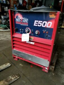 Lincoln Red d arc E500 Stick Welder Free Ship W 25miles Only