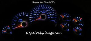 05 Gm Chevy Silverado Speedometer Instrument Cluster Gauge Repair W Blue Leds