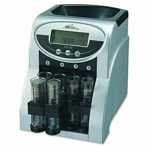 Money Counting Coin Change Sorting Digital Fast 2 Row Machine Black Silver Fs 2d