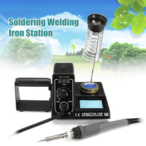 220v Digital Soldering Welding Iron Station Tip Cleaner Paste Holder Adjustable