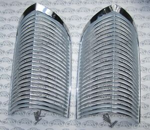 1963 1964 Buick Riviera Chrome Parking Lamp Grills Oem 5954200 Matched Pair