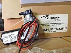 New Thomas 115adc56 12 Piston Compressor 1 10hp 12vdc Truck Rv Bus Coach air