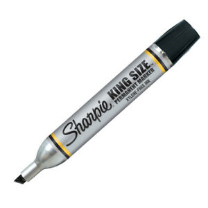 Sharpie King Size Permanent Marker Black Part No 151 Pk 12