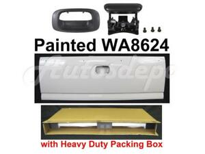 Painted Wa8624 White Tailgate W Handle Bezel For Silverado Fleetside 1999 2006