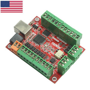 Mach3 100khz Breakout Board 4axis Controller Stepper Motor Engraving Machine Us