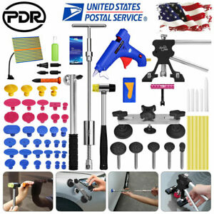 72 Pdr Tools Dent Puller Lifter Paintless Hail Repair Led Light Hammer Removal