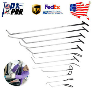 Us 12x Pdr Tools Paintless Dent Repair Spring Steel Rods Hail Damage Removal Set