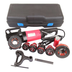 2000w Portable Electric Pipe Threader With 6 Dies Threading Machine 1 2 To 2