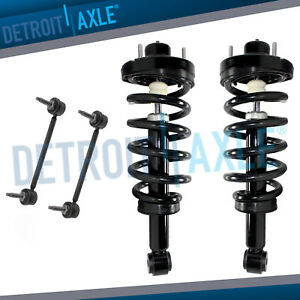 Rear Strut Spring Pair Sway Bar For 2007 2013 Ford Expedition Navigator 5 4l