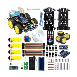 Arduino Project Smart Robot Car Kit With Four wheel Driver Uno R3 Integrate