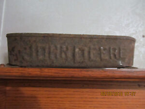 Fathers Day Authentic Rare Antique John Deere Horse Drawn Implement Tool Box