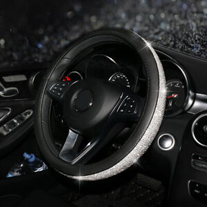 Rhinestone Car Steering Wheel Cover 38cm For Girls Ladies Fashion Shiny Antiskid