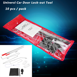 Car Door Key Lost Lock Out 10pcs Open Unlock Tool Kit Air Pump Wedge Unlocking