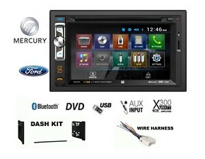 Ford Mercury Bluetooth Touchscreen Radio Stereo Double Din Dash Kit Cd Dvd Usb