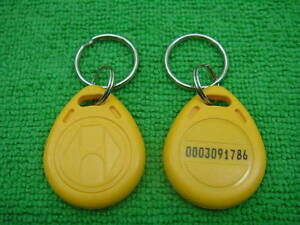100pc 125khz Rfid Proximity Id Identification Token Yellow