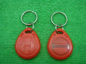 100p R 125khz Rfid Proximity Id Identification Token New Red