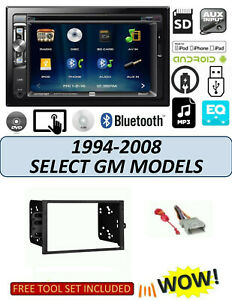 1994 2008 Buick Cadillac Touchscreen Dvd Bluetooth Stereo Double Din Dash Kit