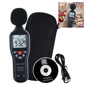 Handheld Sound Level Meter Data Logging Function Backlit Display Datalogger
