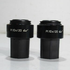 Carl Zeiss Pl 10x 20 30mm Focusable Eyepiece ocular Pair 444032 44 40 32