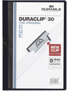 New Durable Vinyl Duraclip Report Cover Letter Holds 30 Pages Mixed Lot Of 25