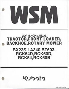 Kubota Bx23s Tractor Workshop Service Manual 9y111 16500