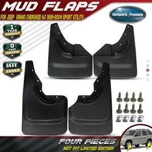 4x Splash Guards Mud Flaps Rear Front For Jeep Grand Cherokee Wj 1999 2004
