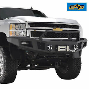 11 14 Chevy Silverado 2500 Front Winch Bumper With Led Lights Heavy Duty