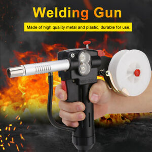 1pc Welding Spool Gun Feeder Aluminum With 3meters Cable 4 core Plug Black