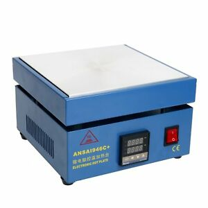 Preheating Station Electronic Hot Plate Welding Soldering Preheat 946c 110v