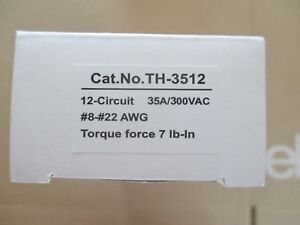 Power First Th 3512 Barrier Strip 12 Position Terminal Block Lot Of 10