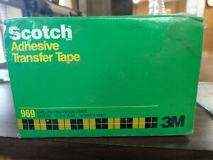 Scotch Atg 969 New Extra High Tack Adhesive Transfer Tape qty 12rolls Unopened