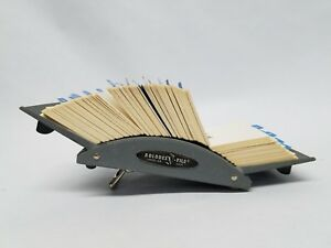 Vintage Zephyr American Rolodex File V524 Industrial Chic Card Holder Metal