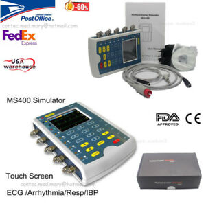 Us Contec Ms400 Portable Multiparameter Touch Color Patient Monitor Simulator