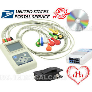 Dynamic 24h 12 channel Ecg Recorder Monitor Holter System Software Analyzer usa