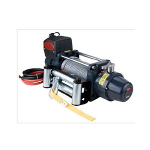Glf Tds 12 0c 12000lb Lbs Pound Electric Recovery Winch 12v 6 0hp Steel Cable