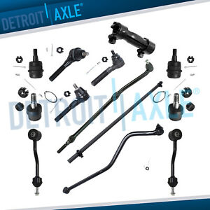 1997 2006 Jeep Wrangler Front Tie Rod Drag Link Track Sway Bar Ball Joint Kit