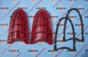 1955 Buick Tail Light Lens Kit Special Century Super Roadmaster Guide 5946031
