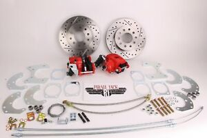9 Ford Rear Disc Brake Kit High Performance D s Rotors Red Pc Calipers