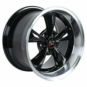 Black 17 Rim W Machined Lip Mustang Bullitt Style Wheel 17x10 5