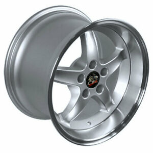 Silver 17 Rim W Machined Lip Mustang Cobra R Deep Dish Style Wheel 17x10 5