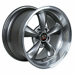 Anthracite 17 Rim W Machined Lip Mustang Bullitt Style Wheel 17x10 5