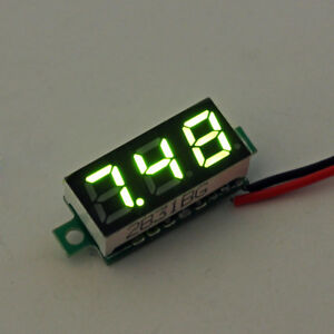 10pcs Geekcreit Green 0 28 Inch 2 6v 30v Mini Digital Voltmeter Voltage Tester