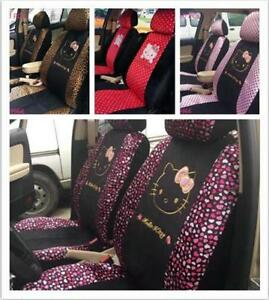 New Cute 10 Pcs Diverse Hello Kitty Universal Polka Dot Car Seat Covers