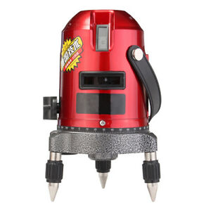 Waterproof 5 Lines 6 Points Laser Level Red Automatic Self Leveling Level