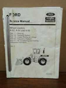 Oem Ford A 62 A 64 A 66 Wheel Front End Loader Service Repair Manual Vol 2 Only